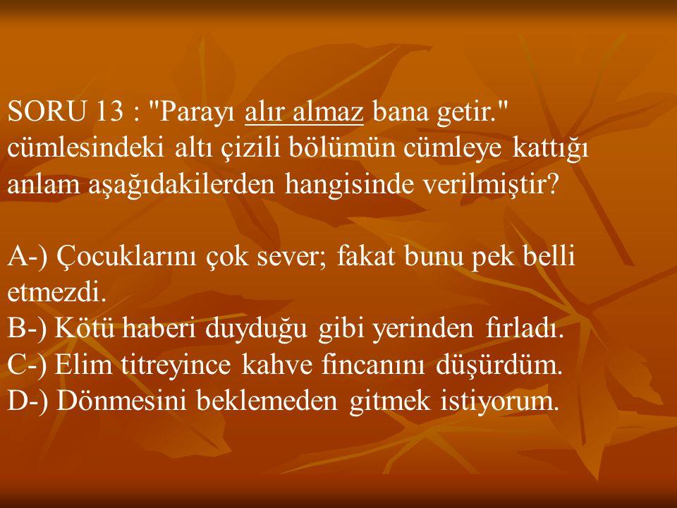 SORU 13 :