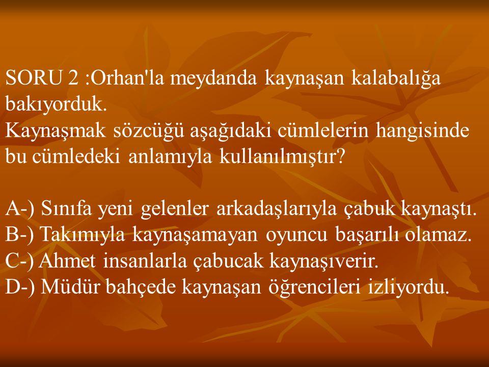 CEVAP 27 : D