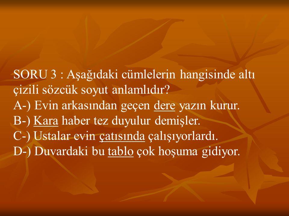 CEVAP 3 : B