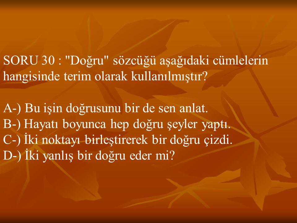 SORU 30 :
