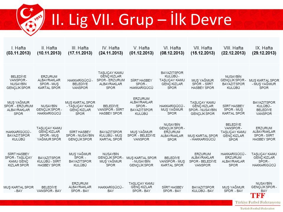 II. Lig VII.