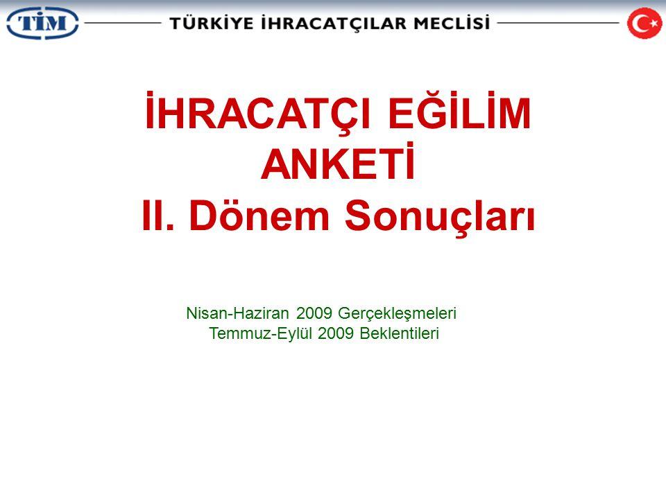 İHRACATÇI EĞİLİM ANKETİ II.
