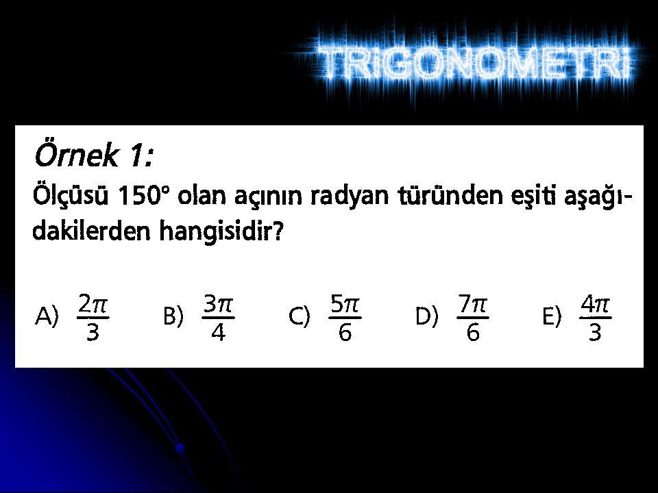 Bir Dar Açının Trigonometrik Oranları 0° < A < 90° olmak üzere bir dik üçgen ele alalım Hipotenüs Karşı dik kenar Komşu dik kenar A B C Cosinüs = cos Komşu dik kenar uzunluğu Hipotenüs uzunluğu Cos A = Cos A = = IABI IACI c b