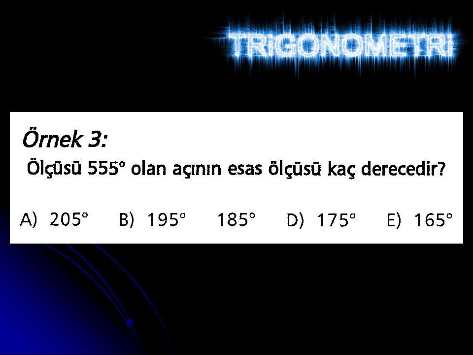 Trigonometrik Oranlar Arasındaki Bağıntılar 0° < A < 90° olmak üzere; sin²A + cos²A = 1tan A.
