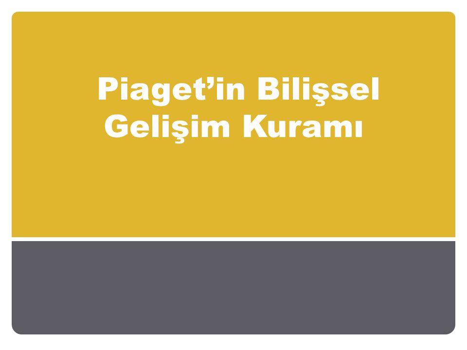 Piaget'e Göre Bilişsel Gelişim Dönemleri Piage'ye göre bireyler bilişsel gelişim dönemlerini sırasıyla geçirir.
