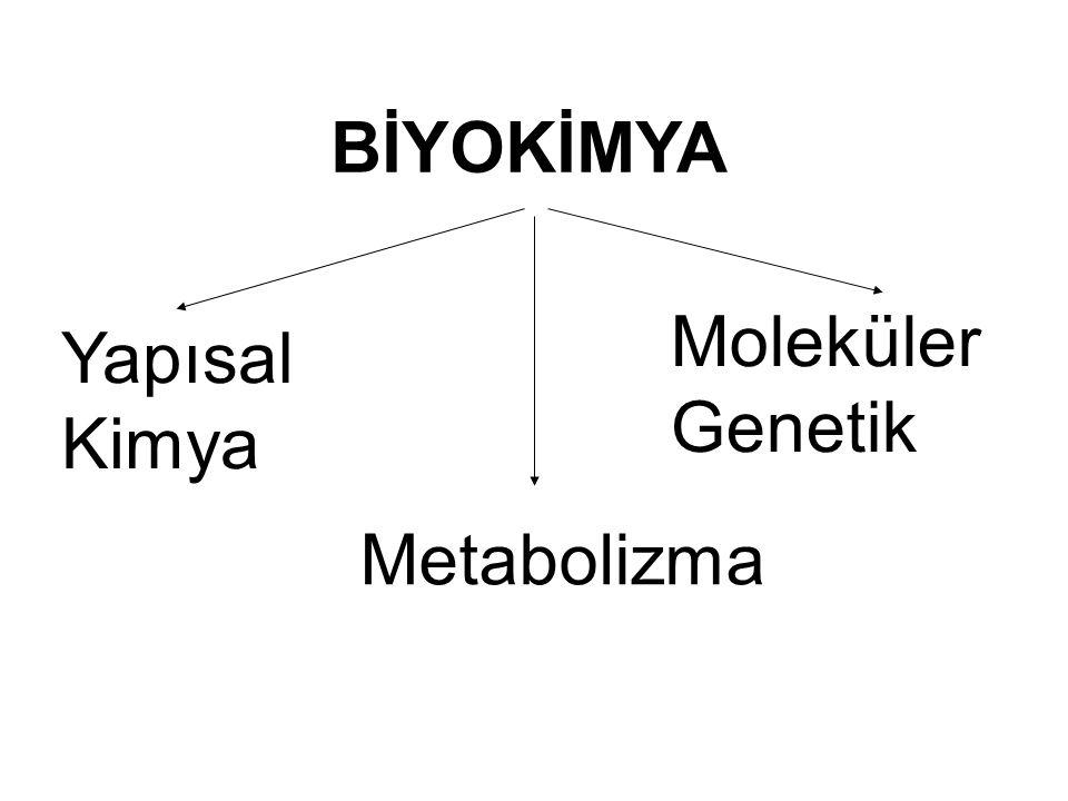 BİYOKİMYA Yapısal Kimya Metabolizma Moleküler Genetik