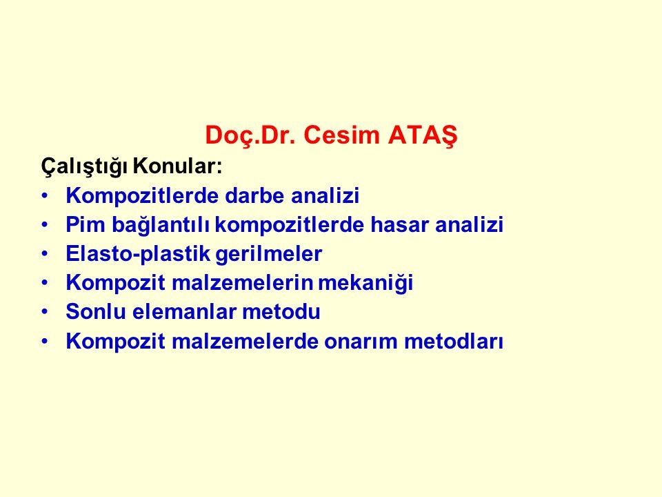 Dersi veren Prof.Dr.