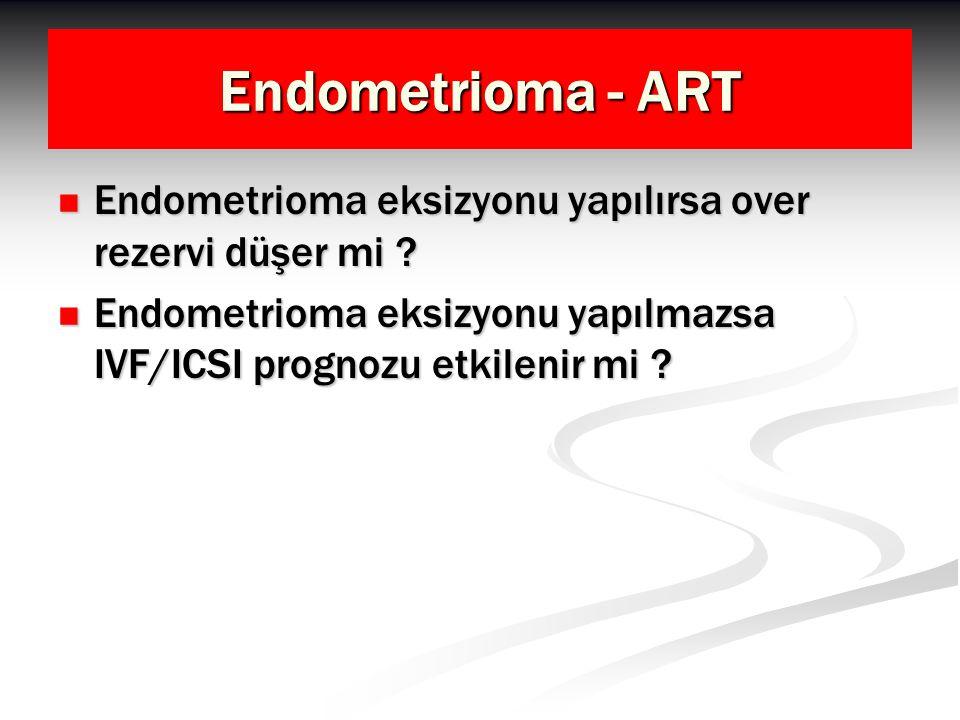 Endometrioma - ART Endometrioma eksizyonu yapılırsa over rezervi düşer mi ? Endometrioma eksizyonu yapılırsa over rezervi düşer mi ? Endometrioma eksi