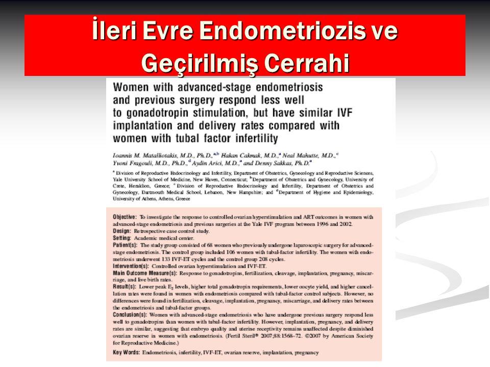İleri Evre Endometriozis ve Geçirilmiş Cerrahi
