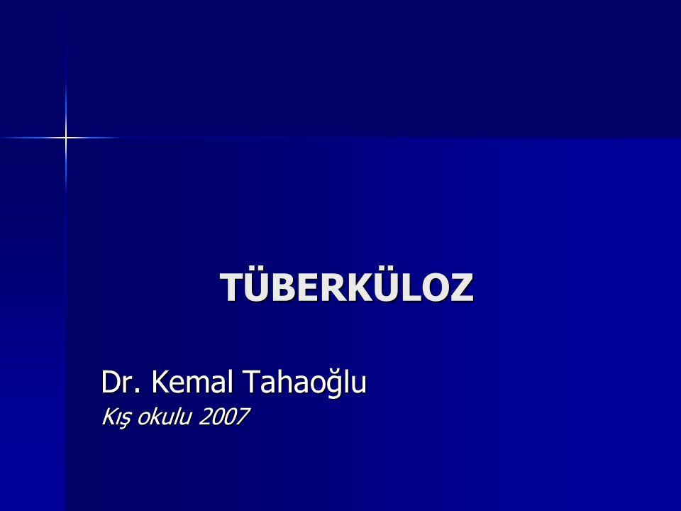 1 Enfeksiyöz hasta 20 Enfekte birey 2 Hasta %10'unda ilk 2 yıl içinde Yayma(+) Akciğer tbc. PPD +