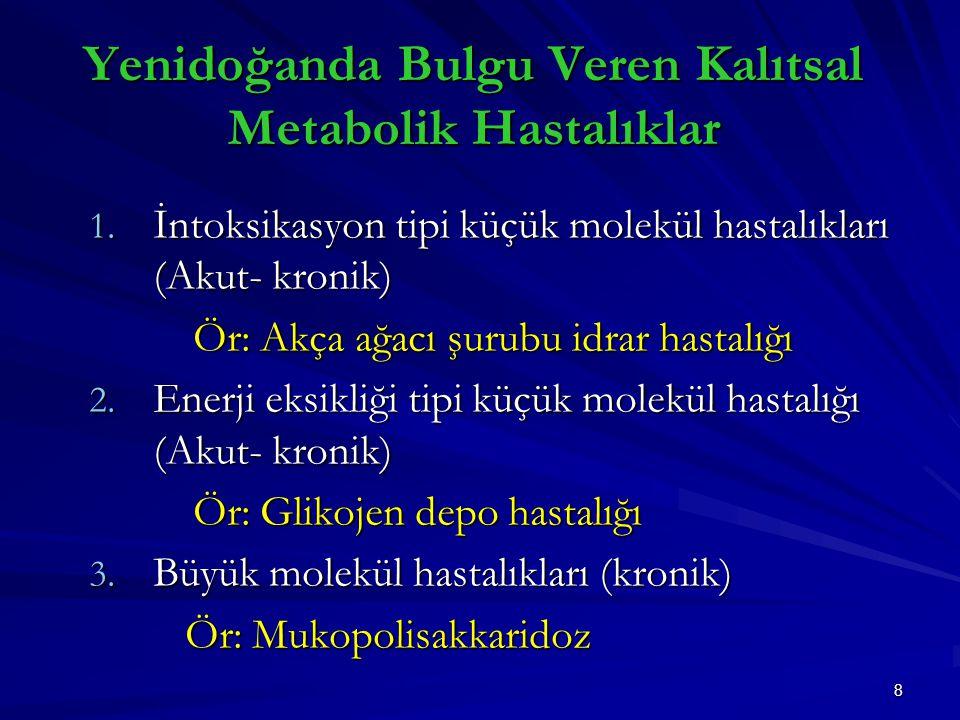 8 Yenidoğanda Bulgu Veren Kalıtsal Metabolik Hastalıklar 1.