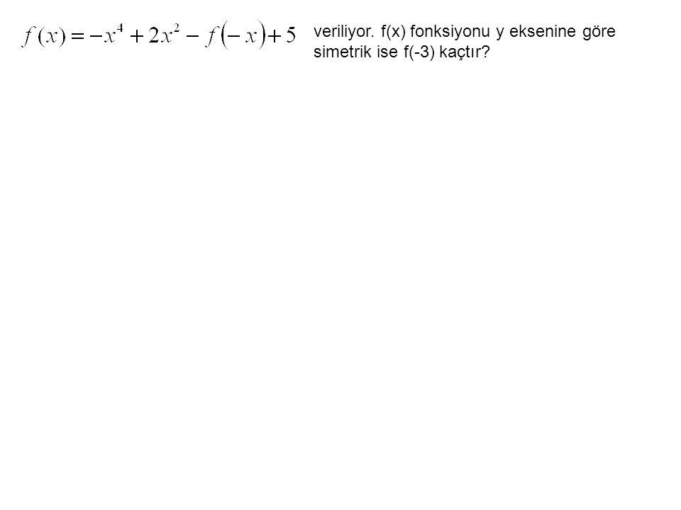 veriliyor. f(x) fonksiyonu y eksenine göre simetrik ise f(-3) kaçtır?