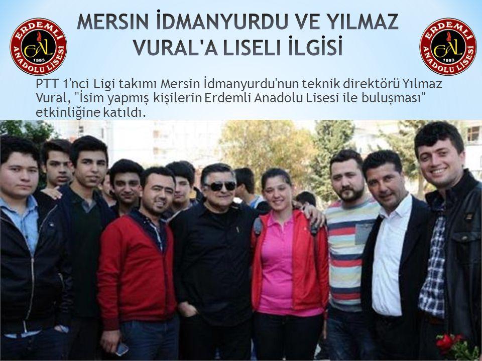 PTT 1'nci Ligi takımı Mersin İdmanyurdu'nun teknik direktörü Yılmaz Vural,
