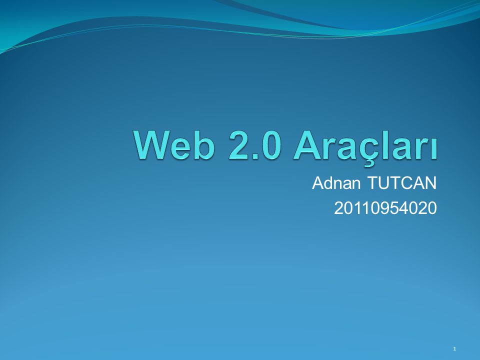 Adnan TUTCAN 20110954020 1
