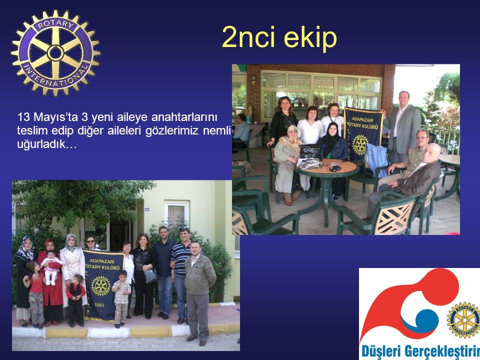 2nci ekip 13 Mayıs'ta 3 yeni aileye anahtarlarını teslim edip diğer aileleri gözlerimiz nemli uğurladık…