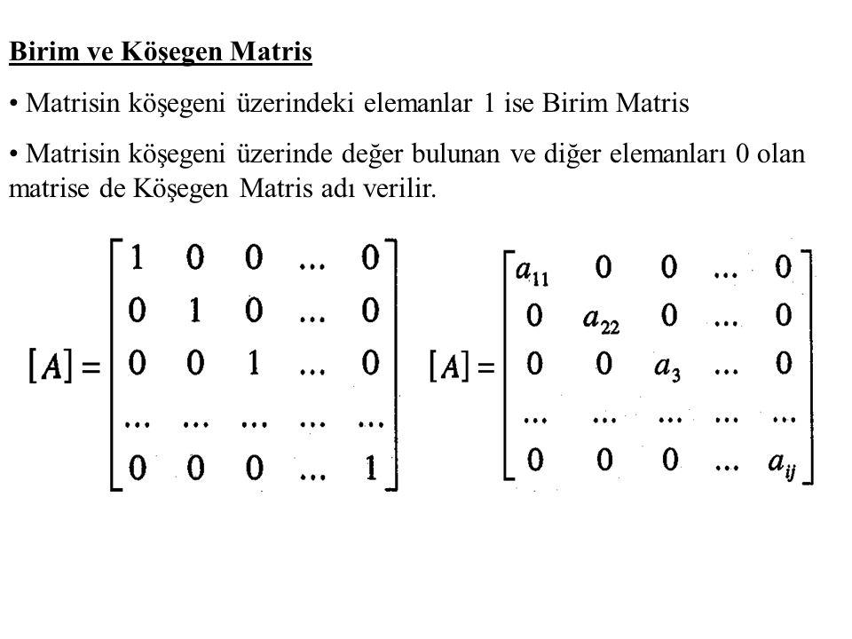 Bant Matris Matrisin elemanları köşegen etrafında belirli bir düzen ile yerleşmiştir.