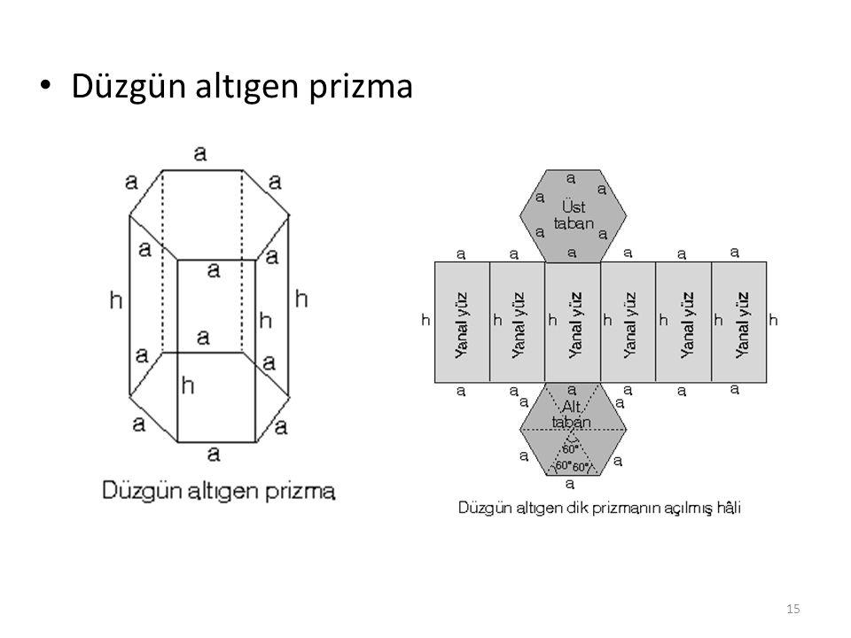 Düzgün altıgen prizma 15