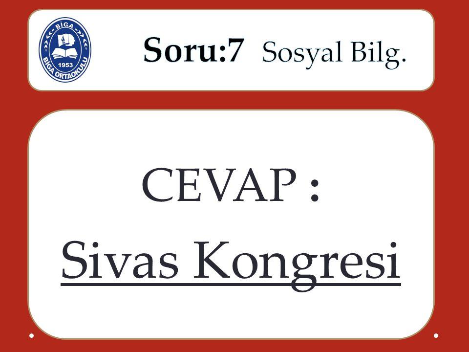 CEVAP : Sivas Kongresi
