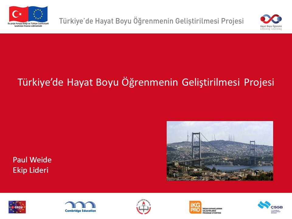 Türkiye'de Hayat Boyu Öğrenmenin Geliştirilmesi Projesi Paul Weide Ekip Lideri