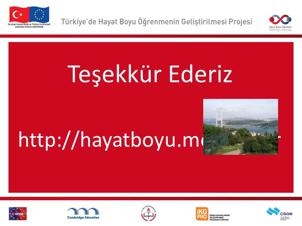 Teşekkür Ederiz http://hayatboyu.meb.gov.tr