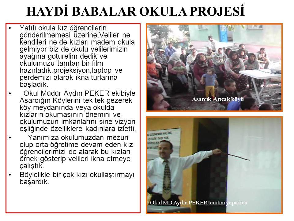 2007 TKY YILIN EKİBİ BİRİNCİLİĞİ Okul Md.Aydın PEKER,Milli Eğitim Md.Nevzat İSPİRLİ'den ödülünü alırken.