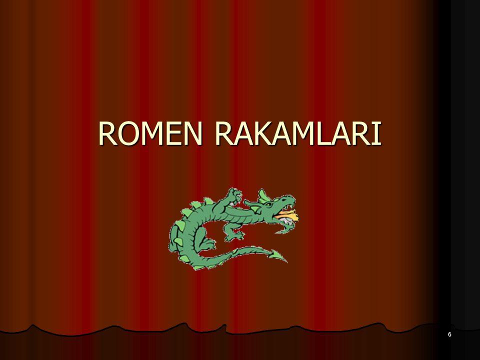 6 ROMEN RAKAMLARI