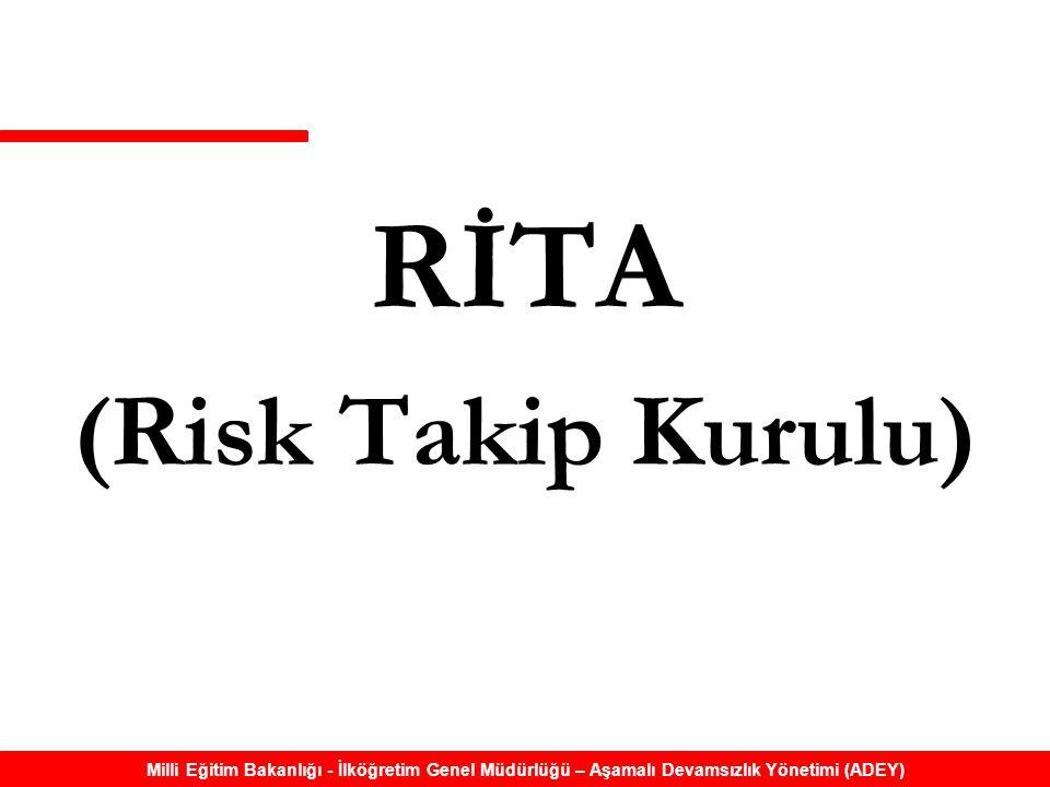 Milli Eğitim Bakanlığı - İlköğretim Genel Müdürlüğü – Aşamalı Devamsızlık Yönetimi (ADEY) RİTA (Risk Takip Kurulu)