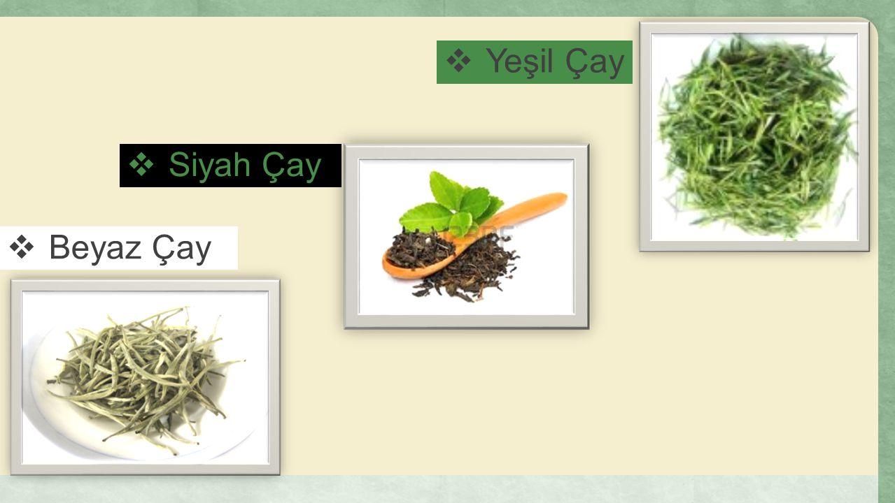  Yeşil Çay  Beyaz Çay  Siyah Çay