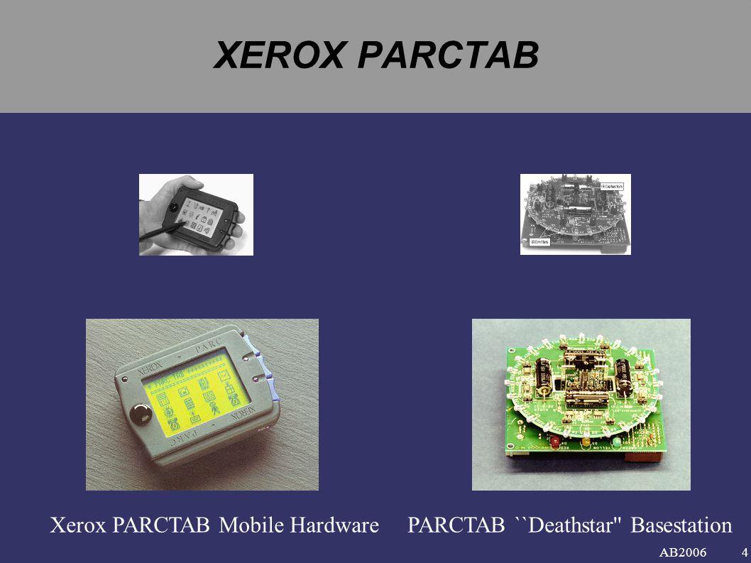 AB2006 XEROX PARCTAB Xerox PARCTAB Mobile HardwarePARCTAB ``Deathstar Basestation 4