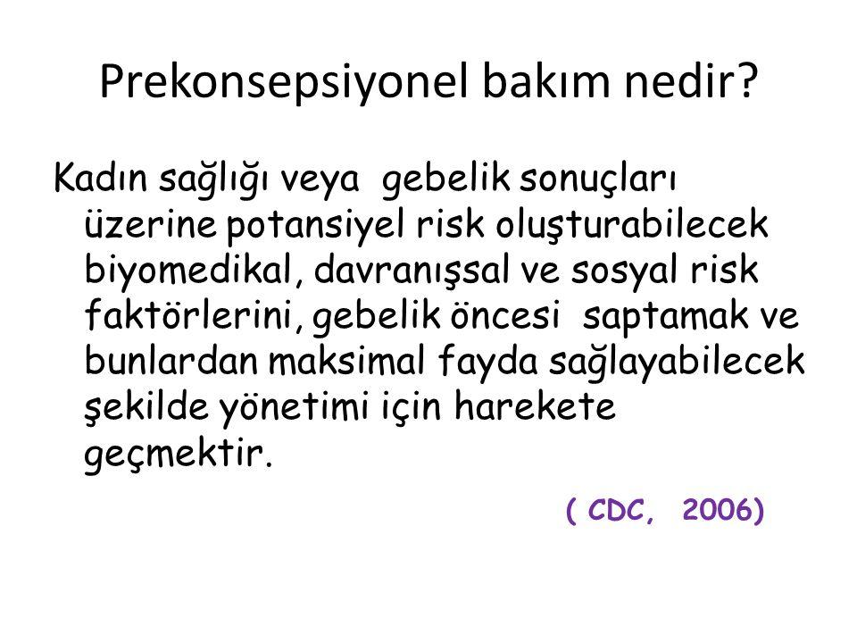 Prekonsepsiyonel bakım nedir.