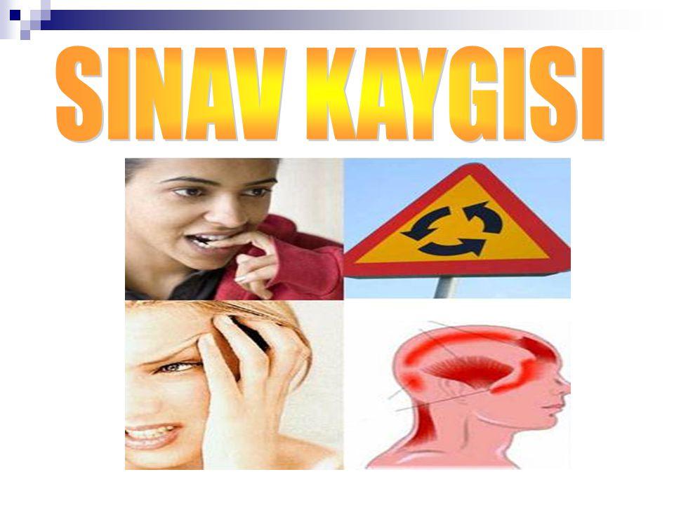 FİZİKSEL BELİRTİLERİ Kalp çarpıntısı, Terleme Titreme Baş ağrısı Yorgunluk, halsizlik Uyku düzeninin bozulması