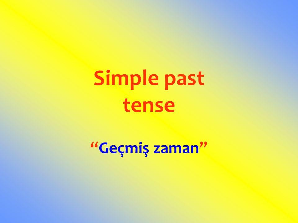 Geçmiş zamanda cümleyi olumsuz / soru yapmak için DID yardımcı fiili kullanılır.