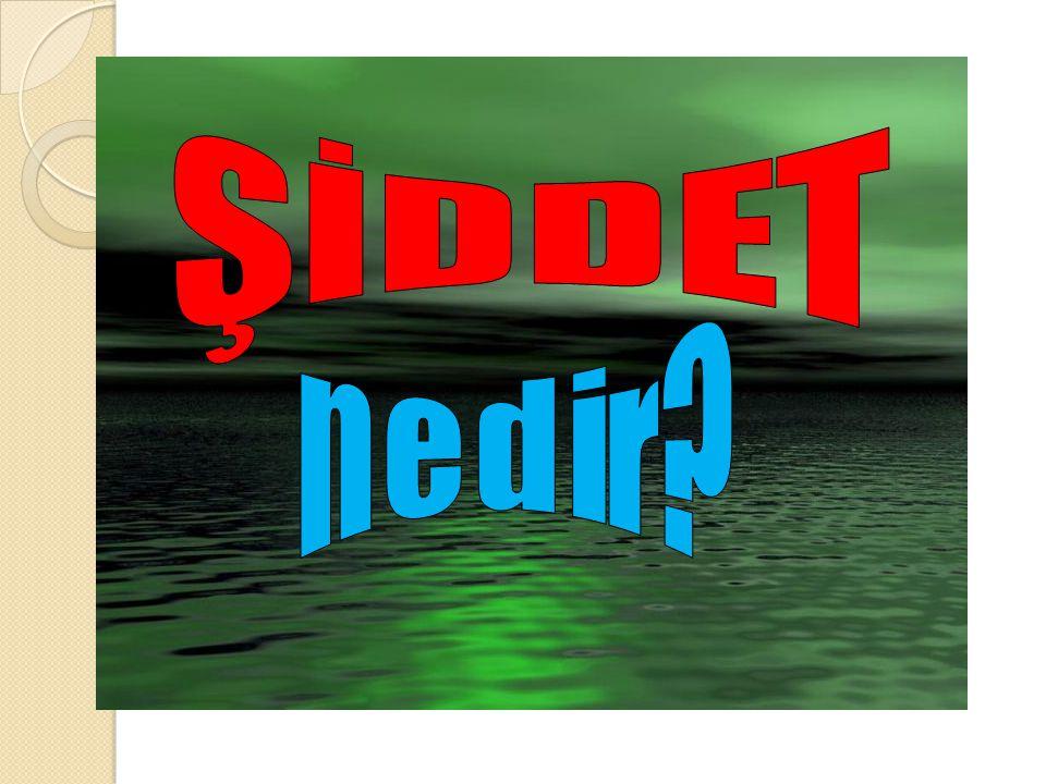 Ş İ DDET NED İ R .