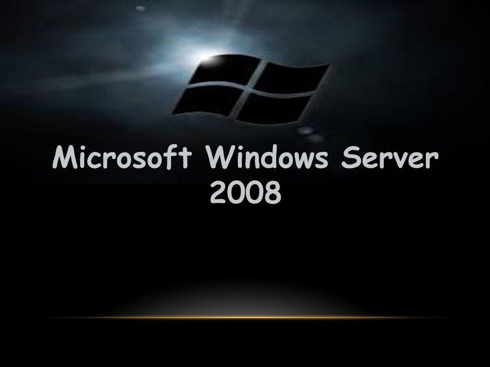 Windows Server 2008, sunucu tabanlı Microsoft Windows işletim sistemlerinin bir sürümüdür.