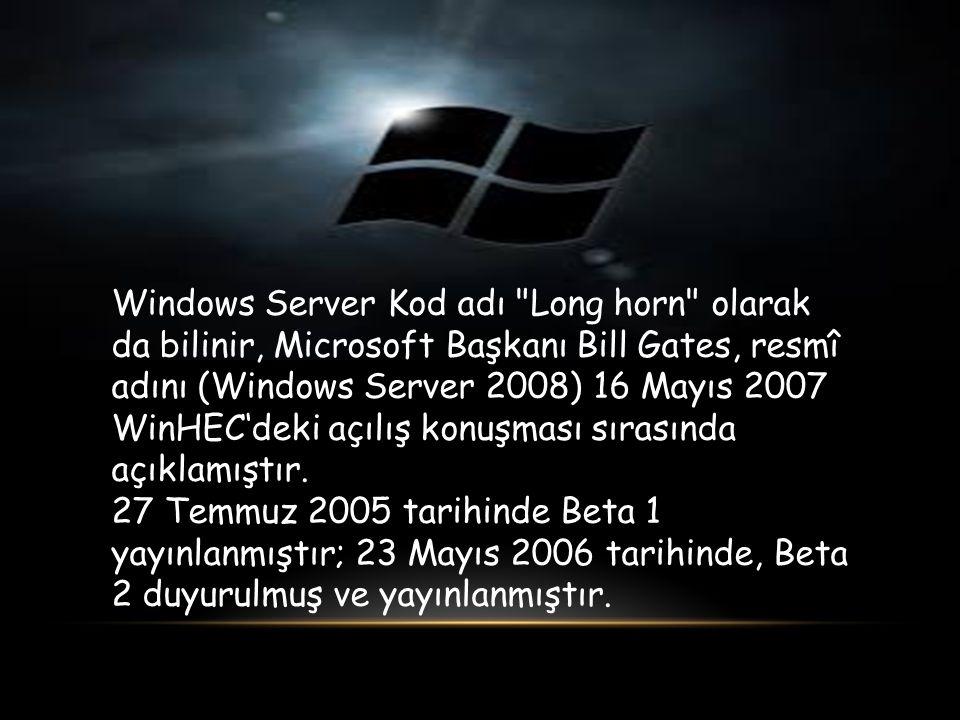 Windows Server Kod adı