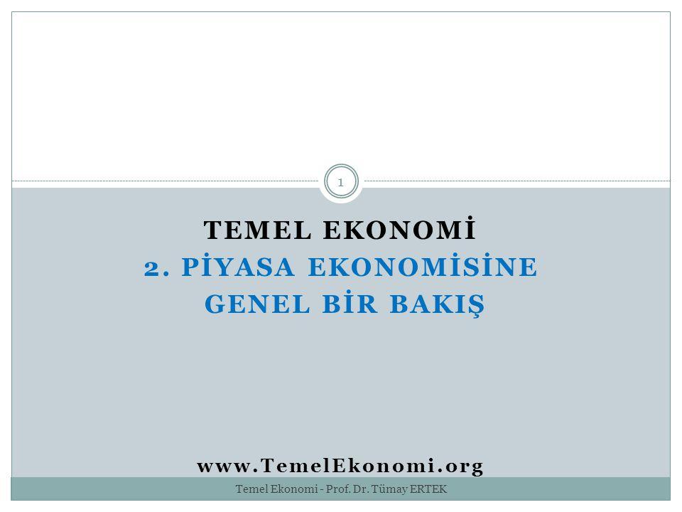TEMEL EKONOMİ 2. PİYASA EKONOMİSİNE GENEL BİR BAKIŞ www.TemelEkonomi.org 1 Temel Ekonomi - Prof. Dr. Tümay ERTEK