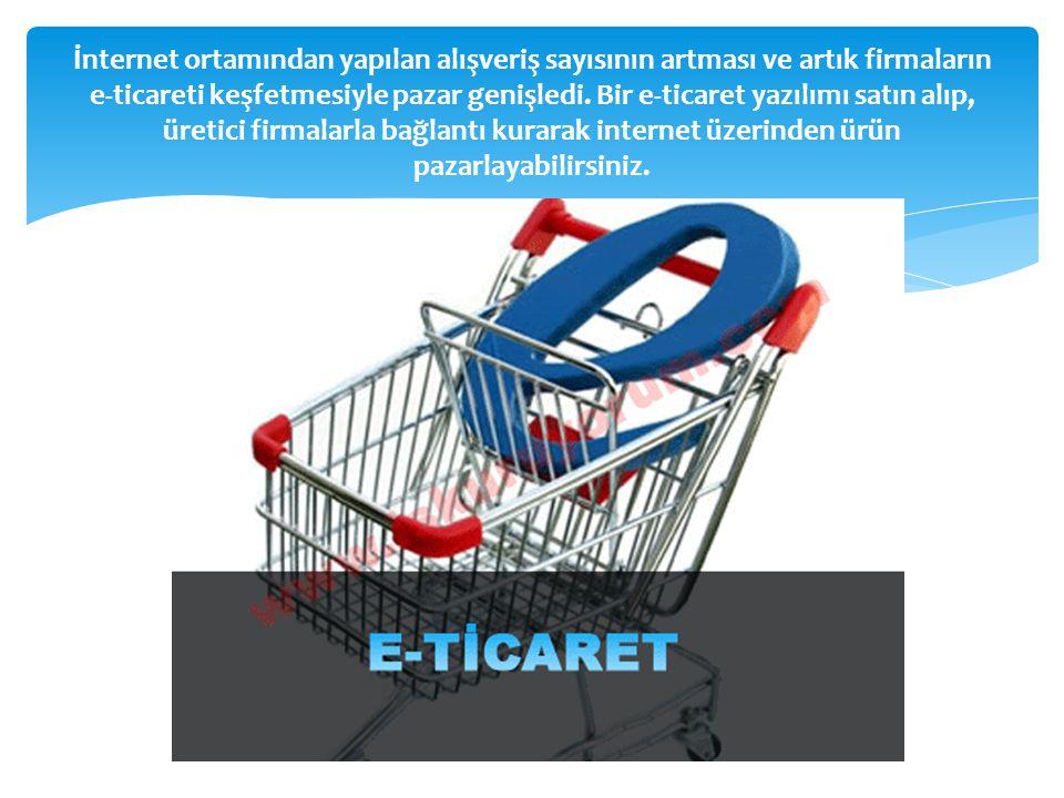 İnternet ortamından yapılan alışveriş sayısının artması ve artık firmaların e-ticareti keşfetmesiyle pazar genişledi. Bir e-ticaret yazılımı satın alı