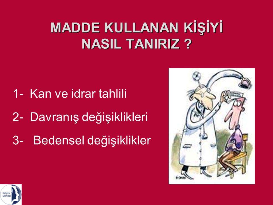 MADDE KULLANAN KİŞİYİ NASIL TANIRIZ .