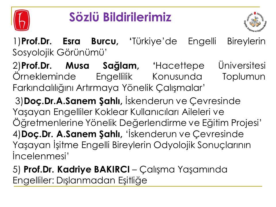 Sözlü Bildirilerimiz 1) Prof.Dr.