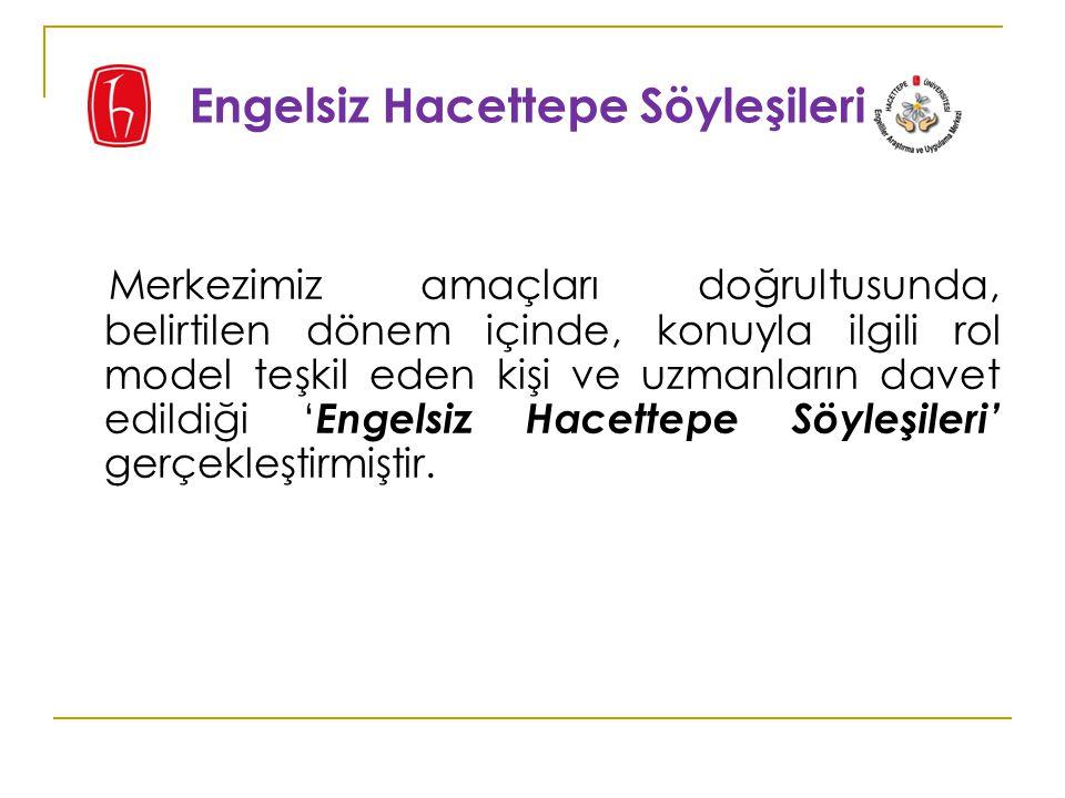 Merkezimiz ' Ankara Engelsiz Flimler Festivali 2015' için danışma kurulunda yer almış ve festivalin farkındalığı artırması konusunda neler yapılabileceği ile ilgili olarak katkıda bulunmuştur.