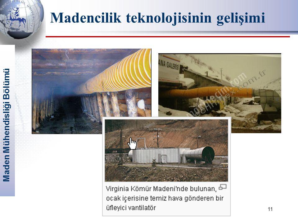 Maden Mühendisliği Bölümü 11 Madencilik teknolojisinin gelişimi