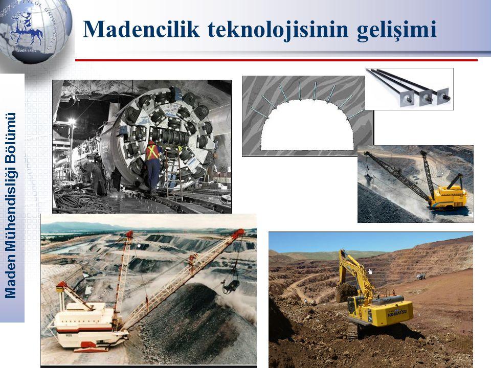Maden Mühendisliği Bölümü 12 Madencilik teknolojisinin gelişimi