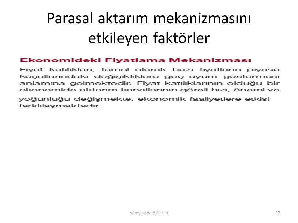 Parasal aktarım mekanizmasını etkileyen faktörler www.hozyildiz.com17
