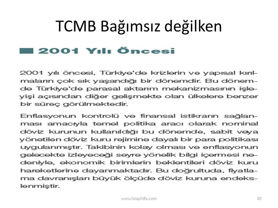 TCMB Bağımsız değilken www.hozyildiz.com30