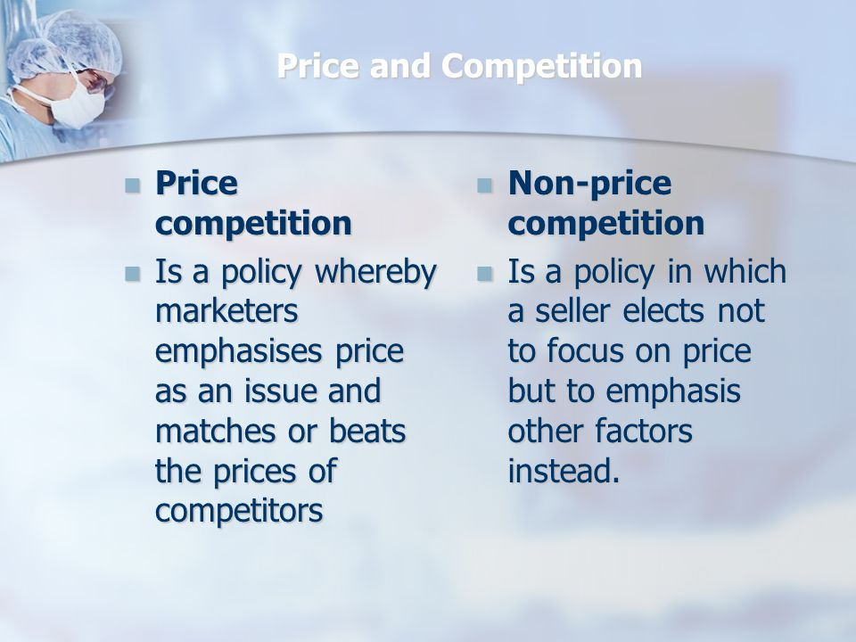 Non-Price Competition Non price competition is done in the following ways: - Reinforcing the quality image of the product - Reinforcing the desirability of the product benefits - Using extended warranty to help customers think they are getting more for their money - Emphasise the longer term cost saving derived from using this product with the cheaper competition - Customer loyalty cards - Incentives for purchasing off-peak, or out of season - Internet shopping - Home delivery systems
