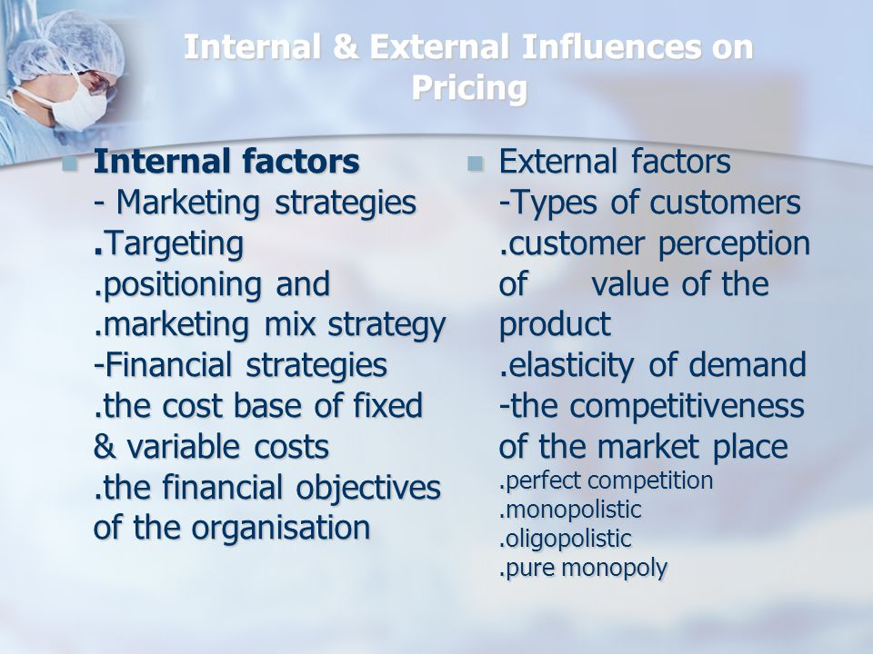 Marketing Mix Variables that Affect Pricing Decisions Marketing-Mix Strategy Product Design and Quality Product Design and Quality Distribution Promotion Non-Price Factors Non-Price Factors