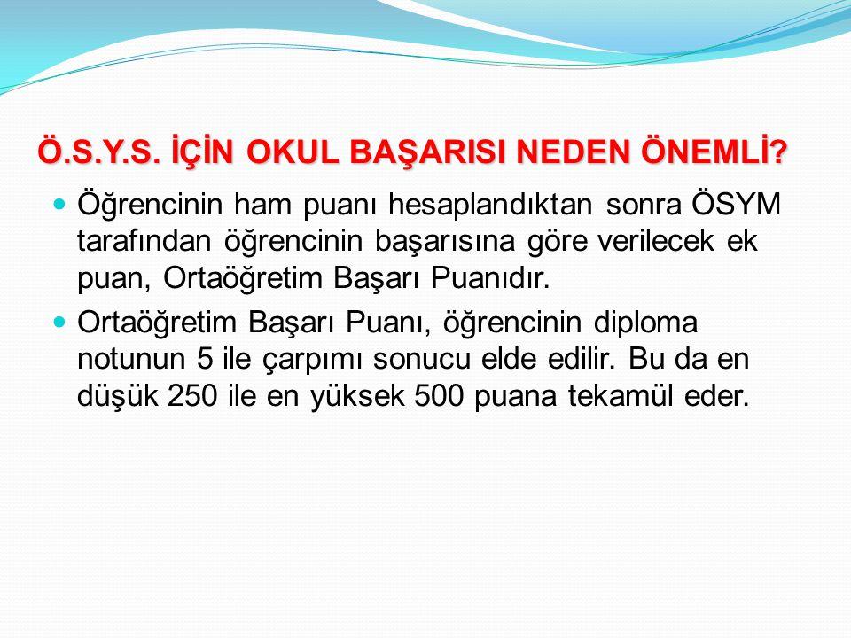 Ö.S.Y.S. İÇİN OKUL BAŞARISI NEDEN ÖNEMLİ.