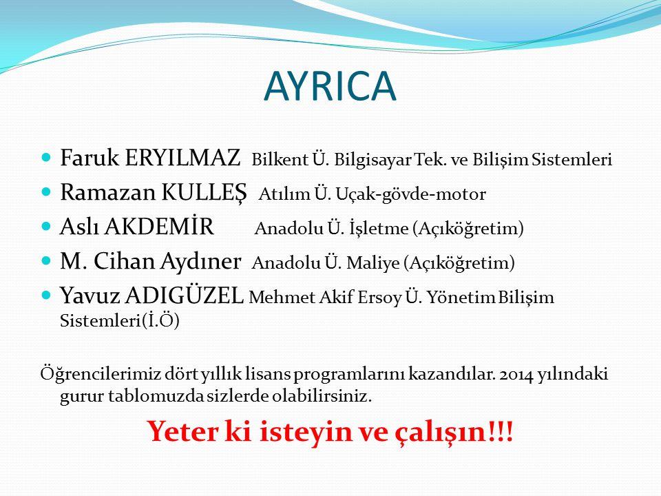 AYRICA Faruk ERYILMAZ Bilkent Ü. Bilgisayar Tek. ve Bilişim Sistemleri Ramazan KULLEŞ Atılım Ü.