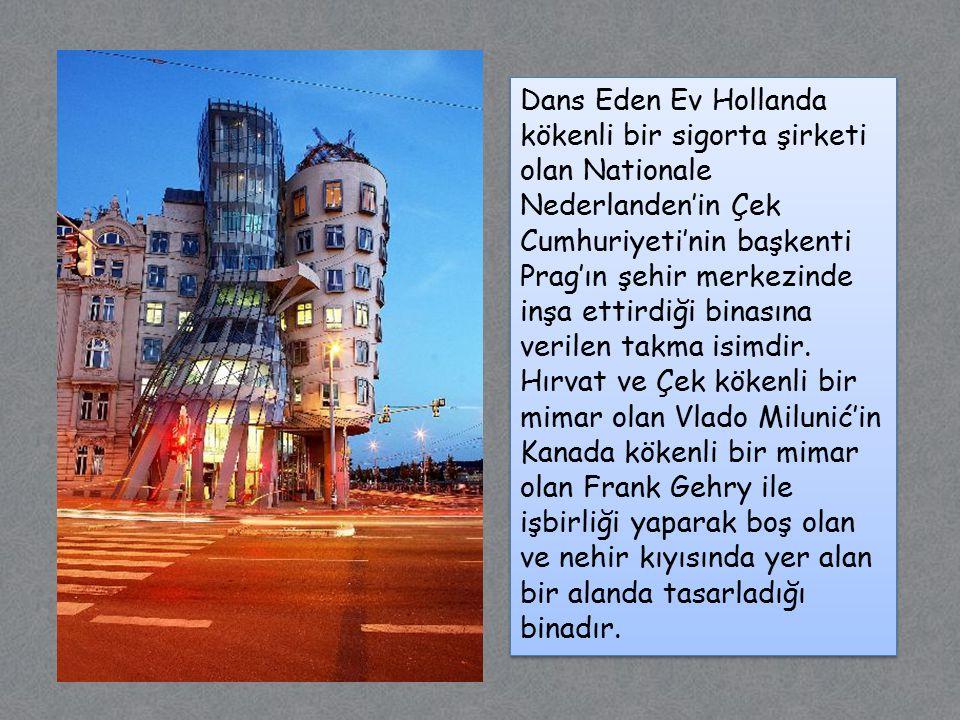 Dans Eden Ev Hollanda kökenli bir sigorta şirketi olan Nationale Nederlanden'in Çek Cumhuriyeti'nin başkenti Prag'ın şehir merkezinde inşa ettirdiği binasına verilen takma isimdir.