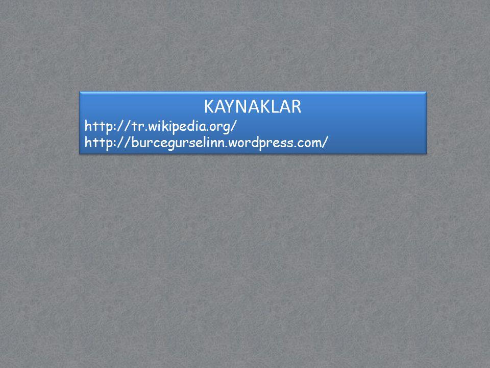 KAYNAKLAR http://tr.wikipedia.org/ http://burcegurselinn.wordpress.com/ KAYNAKLAR http://tr.wikipedia.org/ http://burcegurselinn.wordpress.com/